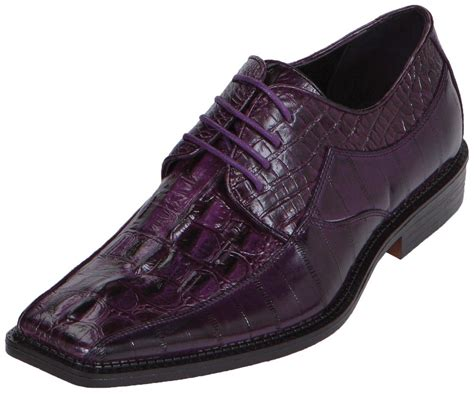 bolano mens dress shoe croc print oxford style