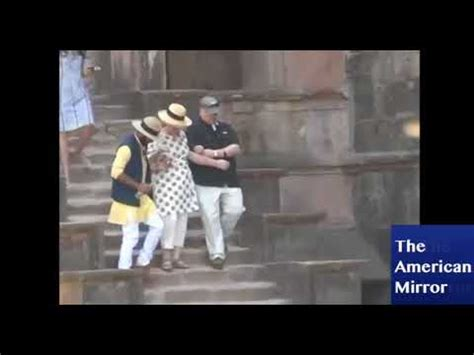 hillary clinton falling down stairs the daily caller hillary clinton nearly falls down stairs in india twice