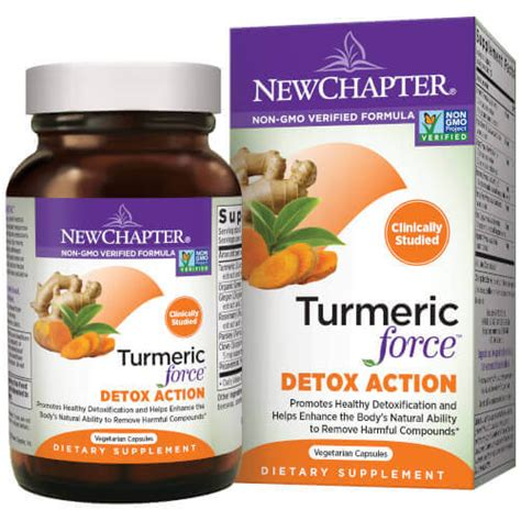 Forced Detox by Turmeric Detox 60 Softgels 888 244 8948 By New Chapter