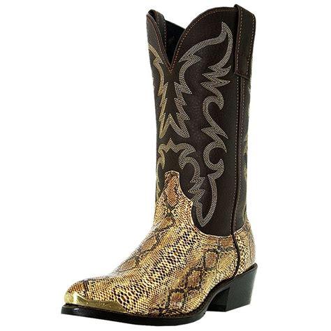 mens snakeskin cowboy boots laredo western boots mens cowboy monty snake golden brown