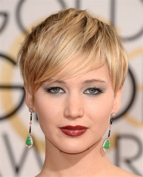 short hairstyles golden globes jennifer lawrence best hair and makeup at the 2014