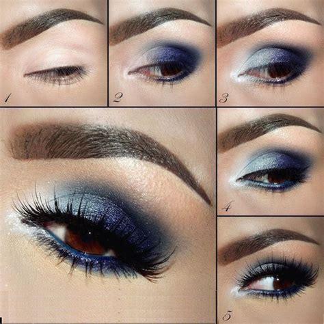 imagenes de ojos pintados con sombras tutoriales de maquillaje de ojos mujer chic