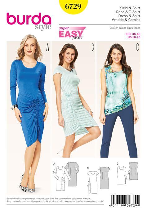 pattern review burda 7700 burda 6729 misses top and dress