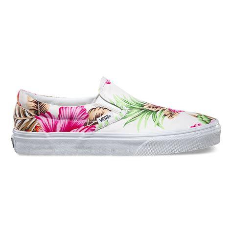 patterned vans for sale hawaiian floral slip on in white vans white 00mefg0