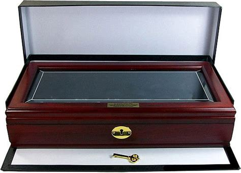 coin display box beveled glass coin display