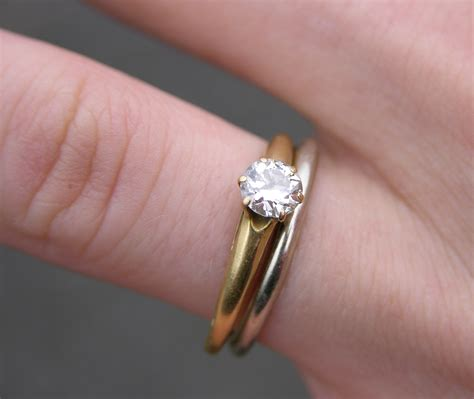 Engagement And Wedding Rings by The Gallery For Gt Wedding Ring On Finger With Engagement