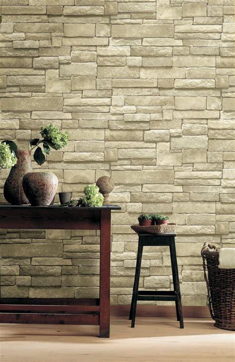 wall reversal  realistic ledge stone wallpaper