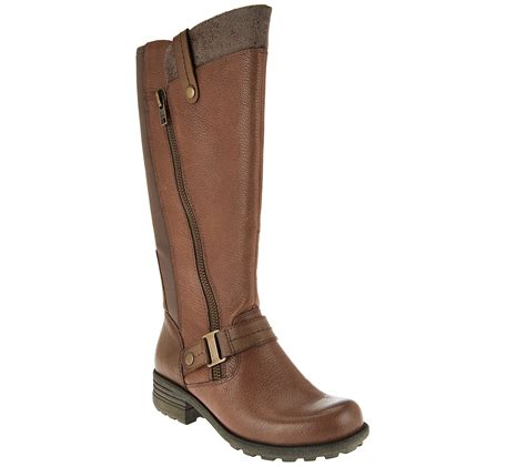 qvc boots quot as is quot earth origins leather medium calf boots
