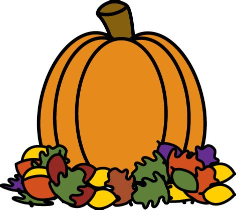 pumpkin clipart pumpkin in autumn leaves clip pumpkin in autumn