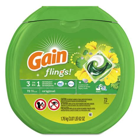 flings laundry detergent pods original scent 0 06 pac 72 container