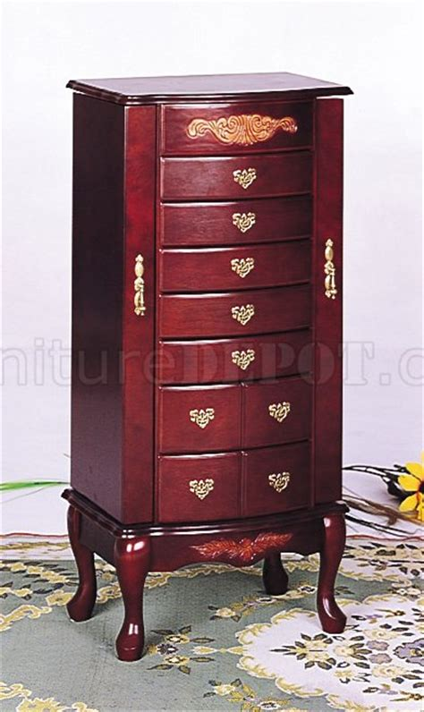 Jewelry Armoire Mahogany by Mahogany Finish Stylish Deluxe Jewelry Armoire