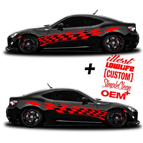 Racing Sticker Design by Car Graphic 201 Racing Flag Free Decals Shine Graffix