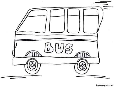 school bus cartoon coloring pages