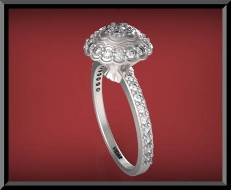 unique flower engagement ring vidar jewelry