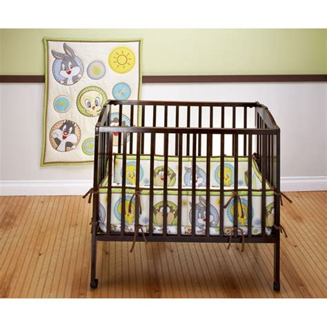 baby looney tunes crib bedding set baby looney tunes portable crib set walmart