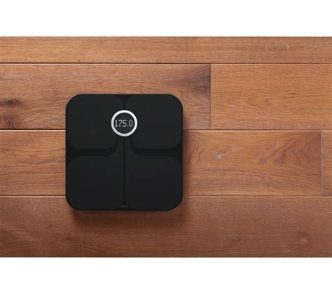 fitbit bathroom scale fitbit aria wifi smart bathroom scales black deals pc