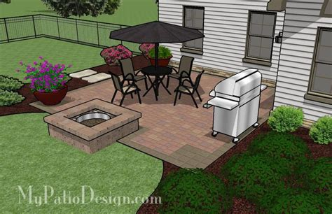 Easy To Build Patio With Fire Pit Patio Designs And Small Patio Designs