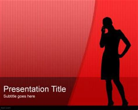 powerpoint templates james bond free women silhouette powerpoint template