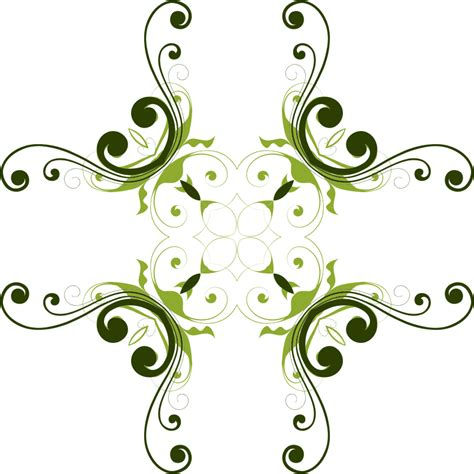 clipart flourish flower design 6