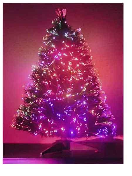 2 ft fiber optic christmas tree