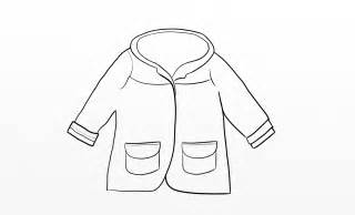 Girls Raincoat Outline For Colouring In sketch template