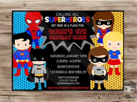 superhero birthday invitations plumegiant com