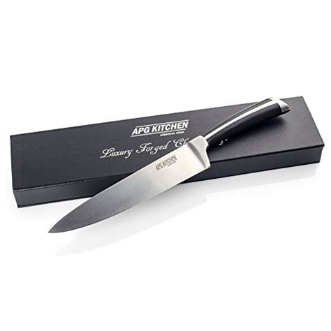 Razor Sharp Kitchen Knives Forged 8 Quot Chef Knife With A Gift Box By Apg Kitchen Best Razor Sharp Chef S Knife For Carving