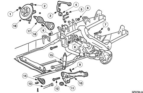 2001 ford f150 front suspension diagram can you tell me if my 2001 ford f150 xlt supercrew 4x4