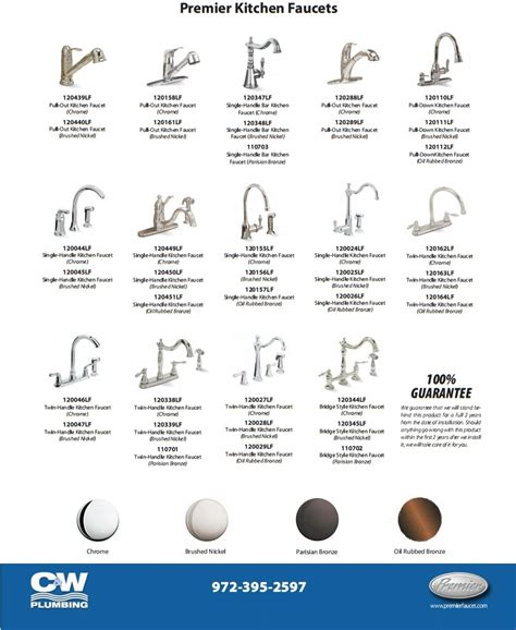 Different Types Of Kitchen Faucets New Faucets For Your Bathroom Or Kitchen C W Plumbing