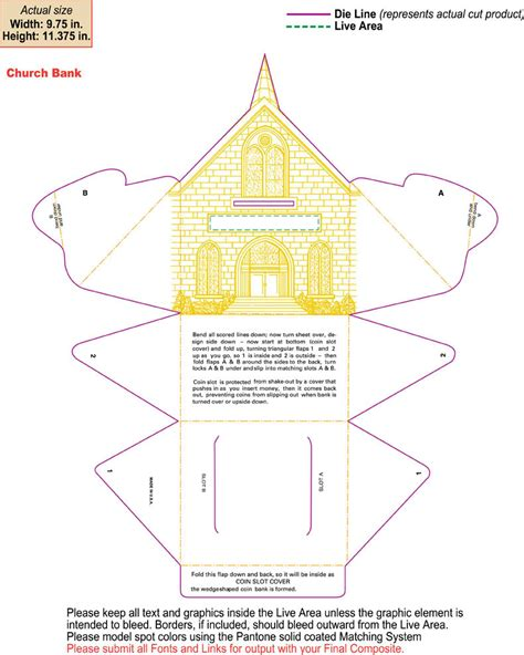 best photos of cardboard church template free paper