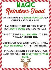 magic reindeer food poem template magic reindeer food poem free printable also includes