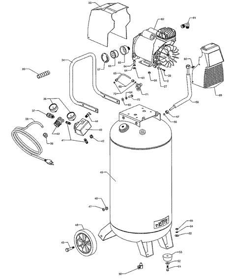 craftsman portable air compressor  repair parts