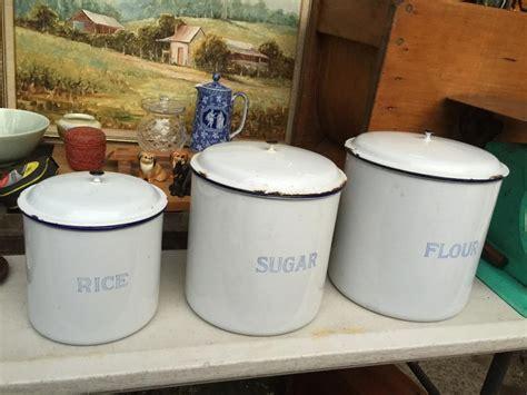 near antique 1920s australian metters enamel kitchen set of 3 vintage 1920 s enamel kitchen canisters made in