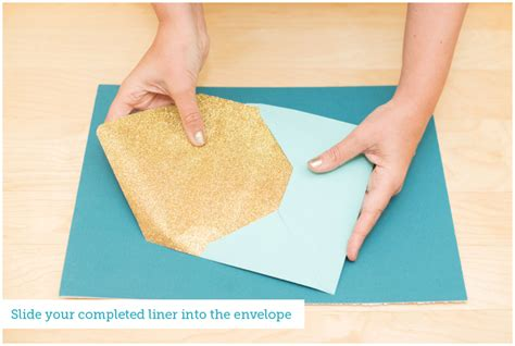 How To Make A Big Envelope Out Of Paper - envelope liner tutorial the budget savvy