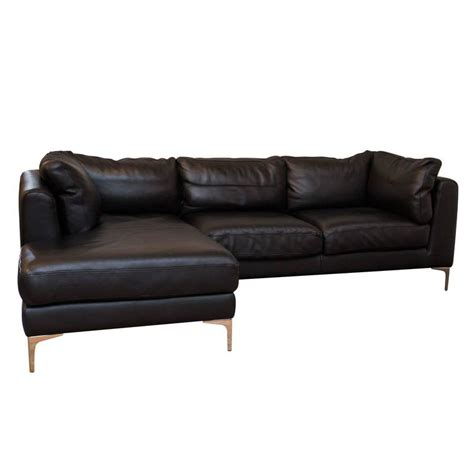 dwr sofas alberto leather sectional from dwr at 1stdibs