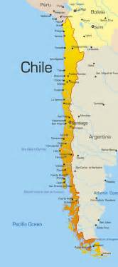 map of chile in south america chile maps and santiago on