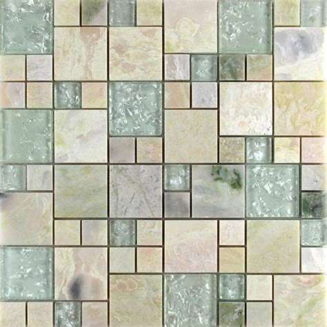 tile sheets for kitchen backsplash wholesale grey stone with white crystal mosaic tile sheet