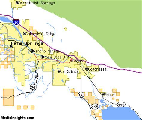 california map indio indio california map my