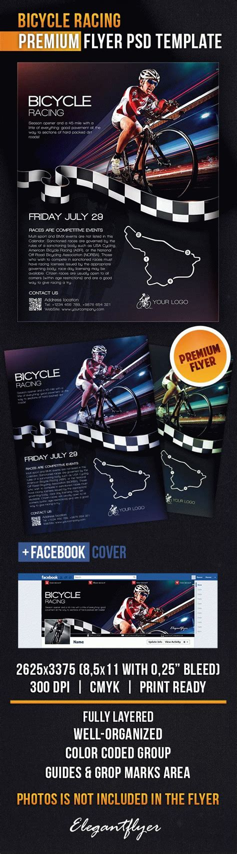 Bicycle Racing Flyer Psd Template By Elegantflyer Bike Flyer Template Free
