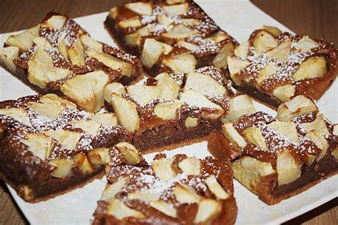 kuchen blech leckere rezepte schoko apfel kuchen vom blech kuchen