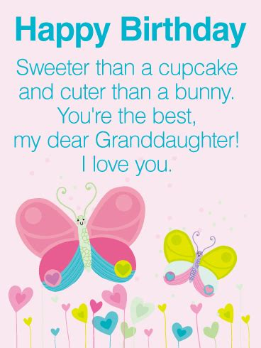 imagenes happy birthday granddaughter you are the best happy birthday wishes card for