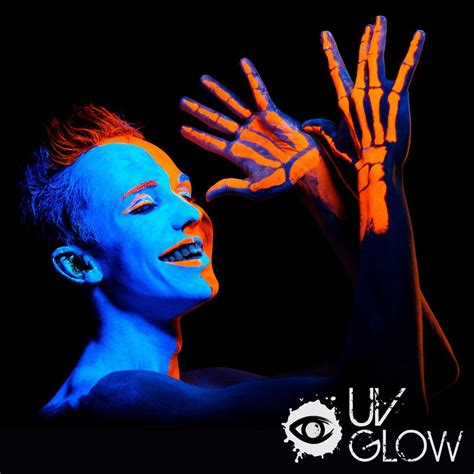 glow in the paint for skin neon glow in the and paint 8pcs uv
