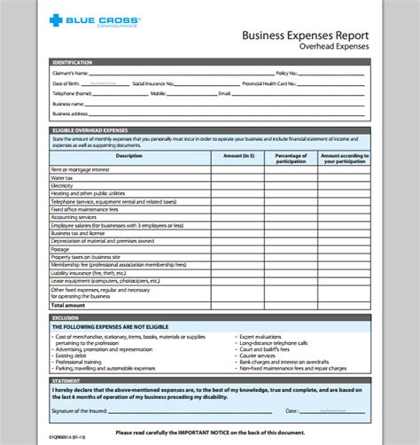 company expense report template business expense report template