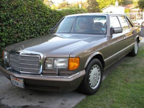 how to sell used cars 1987 mercedes benz e class engine control sell used 1987 mercedes 560sel one owner california car 93k mi immaculate condition in van nuys