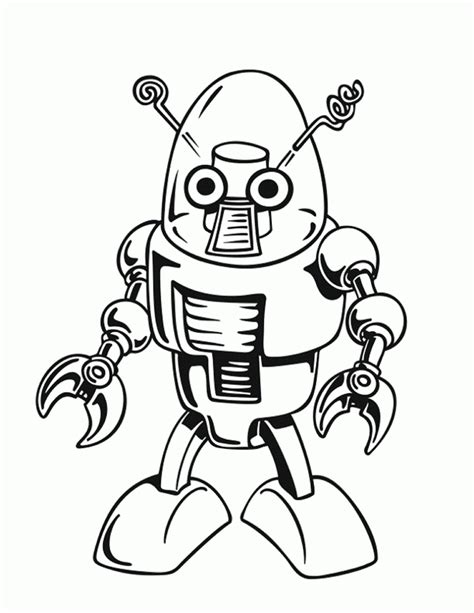 Free Printable Robot Coloring Pages For Kids Pictures To Colour
