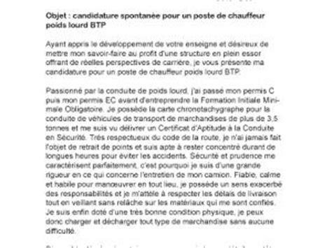 Lettre De Motivation Candidature Spontanée Chauffeur Poids Lourds Lettre De Motivation Chauffeur Poids Lourd Formation