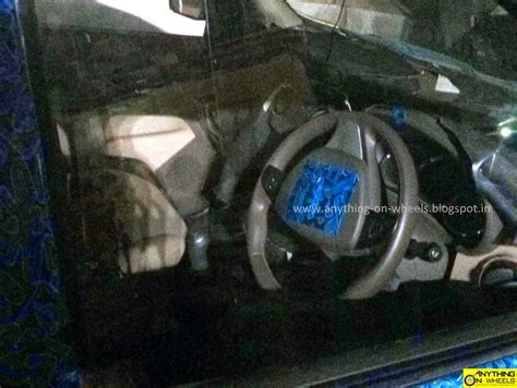 renault lodgy interior renault lodgy steering wheel spied in india indian autos