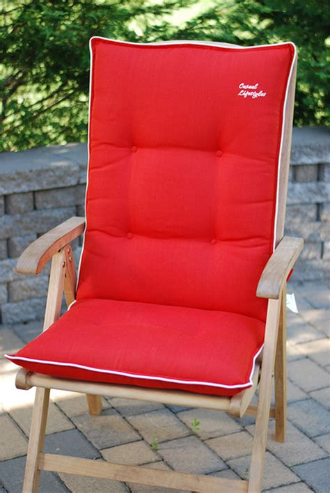 Reclining Patio Chairs With Cushions by High Back Recliner Patio Chair Cushions Set Of 2