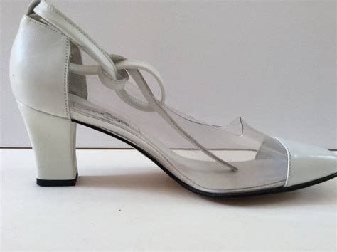 new courreges shoes size 38 white leather clear