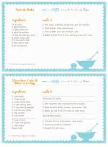 recipe maker template recipe card template templates free